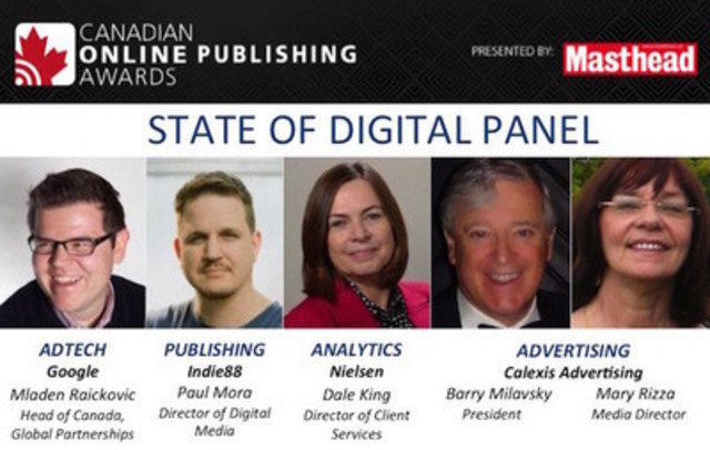 State of Digital Panel (CNW Group/Canadian Online Publishing Awards (COPA))