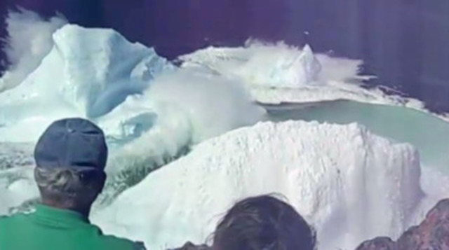 Video: Amateur video shot by visitors themselves, like this iceberg 'calving' off Newfoundland, will run in select Australian cinemas to entice travellers to Canada this summer.