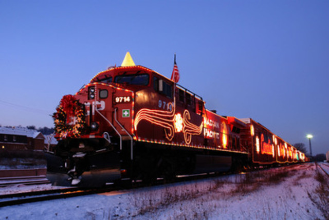 The 15th Anniversary of the CP Holiday Train will feature three special concerts in Calgary, Hamilton and Cottage Grove, Minnesota. (CNW Group/Canadian Pacific)