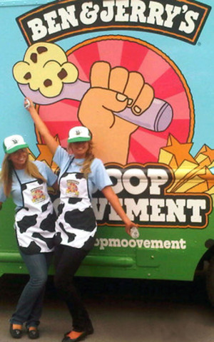 Creating sweet memories with free scoops of Ben & Jerry's Ice Cream. #ScoopMoovement. (CNW Group/Ben & Jerry's)