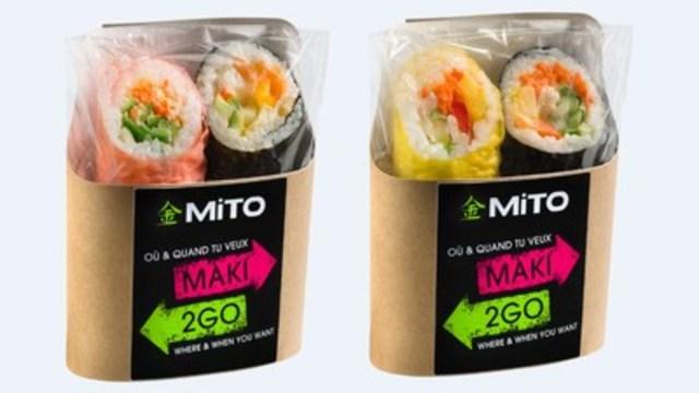 Exclusivité IGA - les nouveaux sandwichs-sushis MAKI2GO de la compagnie MITO Sushi (Groupe CNW/IGA)