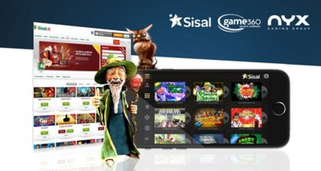Sisal goes live with casino games from NYX and broad partner network via Game360 platform (CNW Group/NYX Gaming  ...