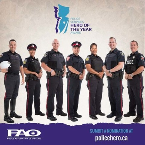 New Police Services Hero of the Year Award Launches Today: PAO (CNW Group/Police Association of Ontario)