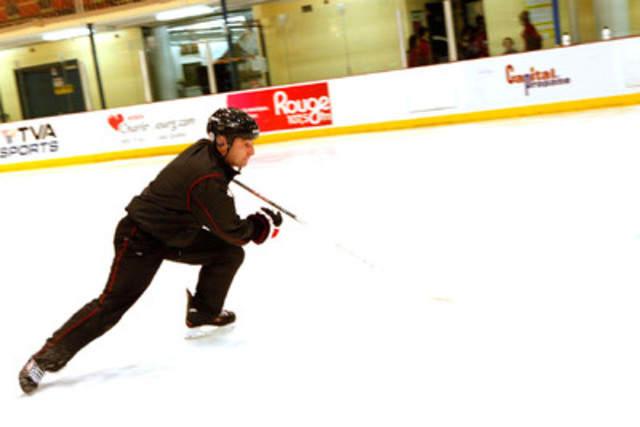 Besa Tsintsadze, le pro de la vitesse, en action (Groupe CNW/CCM Hockey)