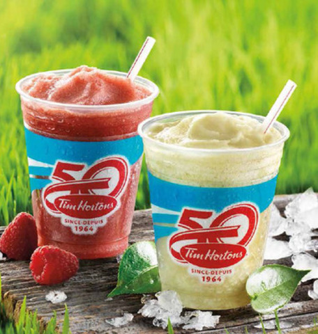 Tim Hortons adds a refreshing twist to tea time with Frozen Green Tea and Raspberry Frozen Green Tea. (CNW Group/Tim Hortons)