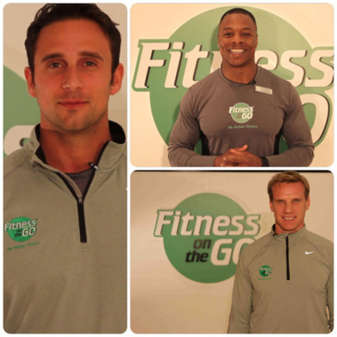 Dan Mezheritsky, President of Fitness on the Go (left) introduces a new program for personal trainers looking to start their own business and brings Canadian fitness industry leaders Tommy Europe (top right) and Andre Potvin (bottom right) to help his team. (CNW Group/Fitness On the Go)