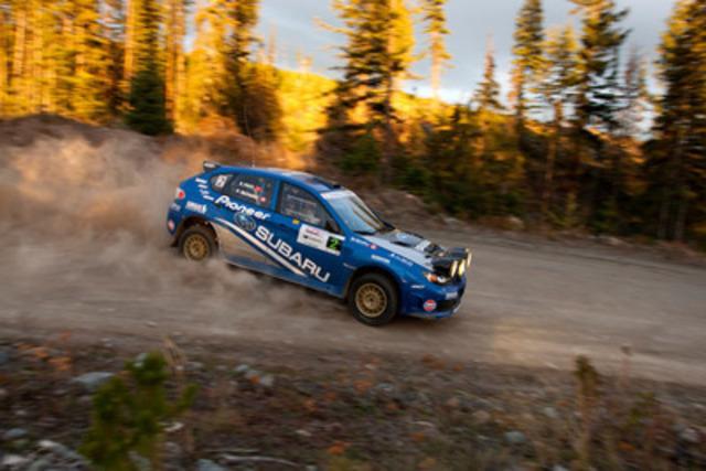 Équipe de rallye Subaru Canada au rallye Pacific Forest. (Groupe CNW/Subaru Canada Inc.)