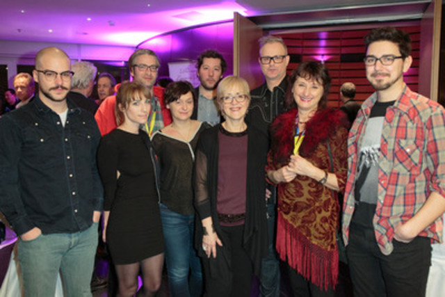 Samedi dernier a eu lieu l'événement Rencontrez le Canada @ Berlin dans le cadre de la Berlinale. L'équipe de Vic + Flo était présente en compagnie de Carolle Brabant de Téléfilm Canada. Plus de 500 représentants de l'industrie et des médias internationaux participaient à cet événement. (Groupe CNW/TELEFILM CANADA)