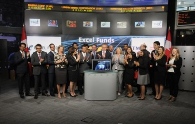Excel India Growth & Income Fund opens markets at TSX listing ceremony (CNW Group/Excel Funds Management Inc.)