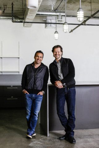 Newly appointed Avid Life Media CEO Rob Segal (left) and newly appointed President James Millership (right) are charting a new course for Avid Life Media and its flagship brand, Ashley Madison. Segal and Millership are pictured in the company's future head office, which is currently under construction in Toronto. (CNW Group/Avid Life Media)