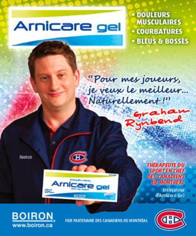 Graham Rynbend, thérapeute sportif en chef des Canadiens de Montréal, utilisateur des produits Boiron. (Groupe CNW/Boiron Canada Inc.)