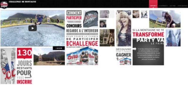 Pour obtenir de plus amples renseignements sur le concours Coors Light Challenge de montagne, visitez le site www.coorslight.ca/fr/survival (Groupe CNW/Molson Coors Canada)