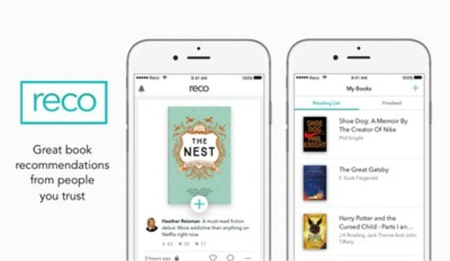 RECO, the first iOS mobile application of its kind, allows users to discover, share, capture, and discuss great books. (CNW Group/Indigo Books & Music Inc.)