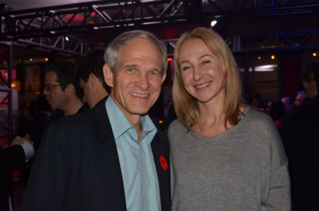 World Vision Canada CEO Dave Toycen with business leader Belinda Stronach at the Africa Comes Alive benefit, in support of World Vision (CNW Group/World Vision Canada)