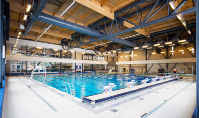Green Building Wood Design Award Winner: Richcraft Recreation Complex, Kanata, ON; Architect:  Salter Pilon Architecture Inc.; Engineer:  exp Services Inc.   (CNW Group/Ontario Wood WORKS!)