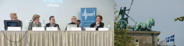 Maxime Laporte à un colloque international à Berlin sur les conséquences d'un référendum. (Groupe CNW/Société Saint-Jean-Baptiste de Montréal)