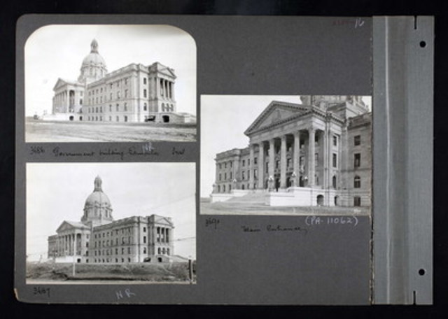 Alberta Legislature Building, between 1892-1917. This image is part of Ancestry's new collection entitled Canada, Photographic Albums of Settlement, 1892 – 1917 (CNW Group/Ancestry.ca)