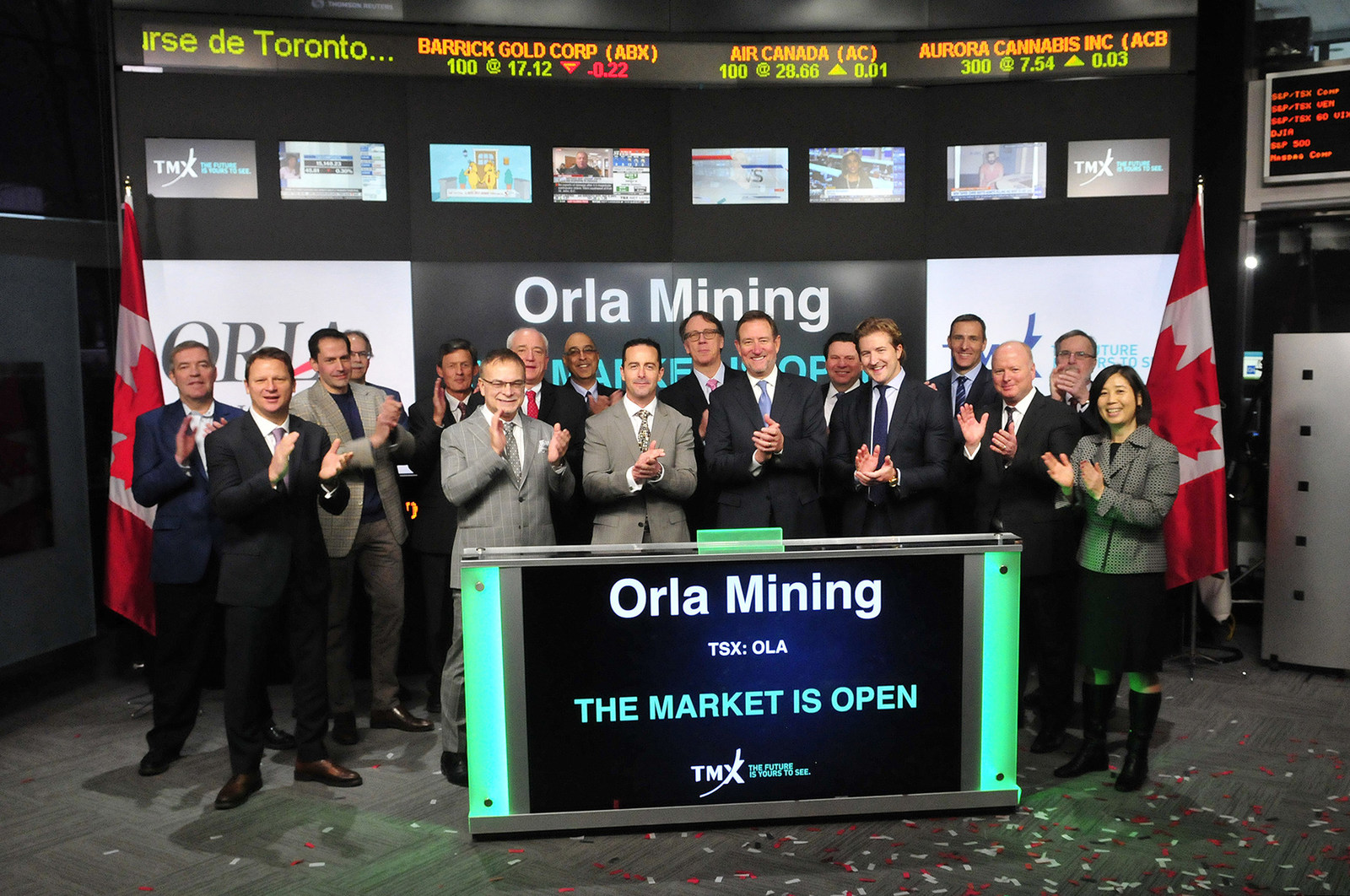 Orla Mining Ltd. Opens the Market