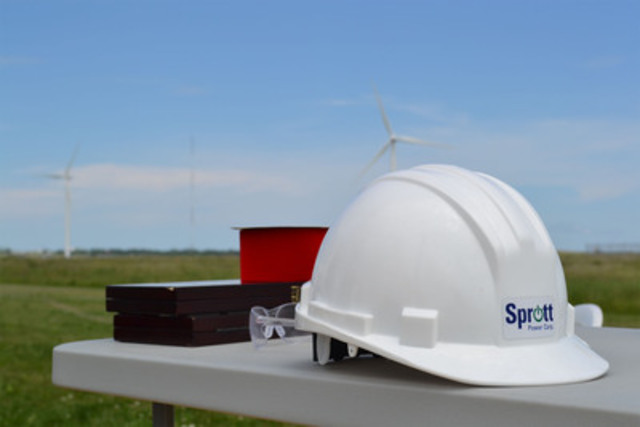 Sprott Power Corp. today held the ribbon-cutting ceremony for its wind farm in Amherst, Nova Scotia. (CNW Group/Sprott Power Corp.)