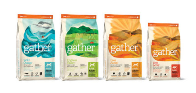 Petcurean launches Gather, its certified organic and sustainably produced pet food line (CNW Group/Petcurean)