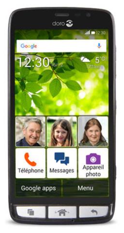 Bell ajoute à sa gamme de produits d'accessibilité le Doro 824, un téléphone intelligent destiné aux clients ayant des déficiences visuelles, cognitives et physiques modérées (Groupe CNW/Bell Canada)