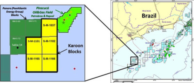 Map of the Karoon Blocks (CNW Group/Pacific Rubiales Energy Corp.)
