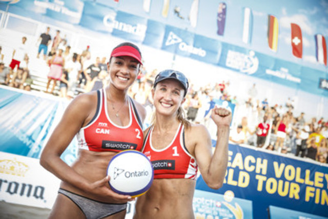Heather Bansley (CAN) and Brandie Wilkerson (CAN) (CNW Group/Swatch Beach Volleyball Major Series)