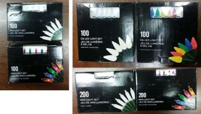 Luminaires saisonniers vendus chez Shoppers Drug Mart/Pharmaprix (Groupe CNW/Corporation Shoppers Drug Mart)