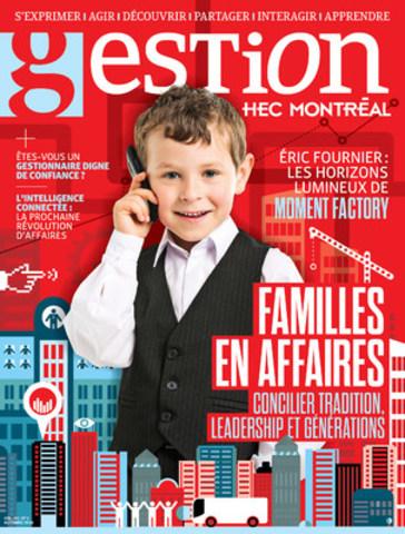 Page couverture du dernier numéro de Gestion (Groupe CNW/HEC Montréal)