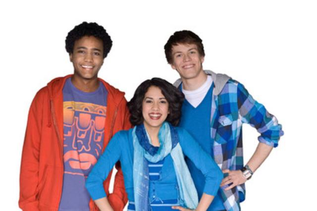 (from left to right) TVOKids Hosts - The Space Dalmar Abuzeid, Kara Harun, Drew Dafoe. (CNW Group/TVO)