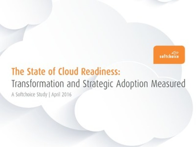 Transitioning to public cloud is a slow-moving process for most businesses, according to a new study by Softchoice, a leading North American IT solutions and managed services provider. (CNW Group/Softchoice Corporation)