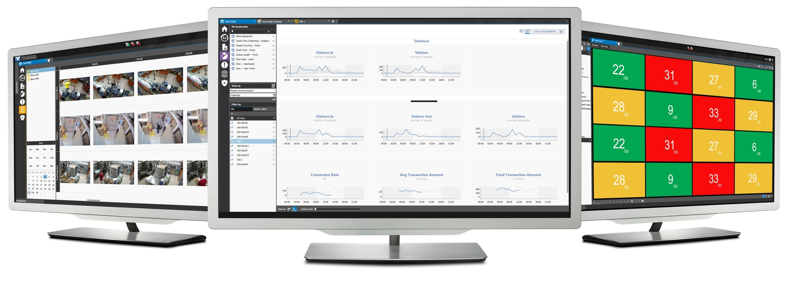 The March Networks Health Compliance Solution features real-time alerts on building occupancy and elevated body temperatures, as well as video audits of health & safety procedures.
