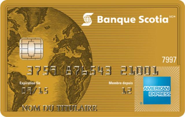 Les nouvelles cartes American Express(MD) de la Banque Scotia - une série de cartes de fidélité conçues pour les passionnés du voyage. Les clients peuvent accumuler jusqu'à quatre points par dollar dépensé dans les stations-service, les magasins d'alimentation, les restaurants et les divertissements. (Groupe CNW/Banque Scotia - Produits et Services)