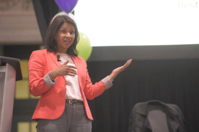 Toronto Central Community Care Access Centre's Senior Director of Client Services, Dipti Purbhoo, speaks at the Caregiver Show on May 14, 2014 (CNW Group/Toronto Central Community Care Access Centre)