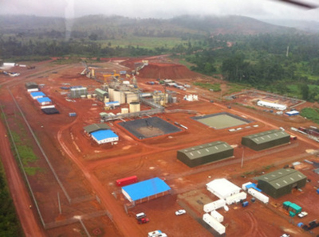 Agbaou Gold Mine process plant aerial, October 2013 (CNW Group/Endeavour Mining Corporation)