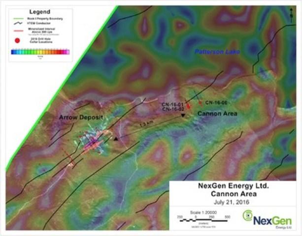 Figure 3: Cannon Drill Hole Locations (CNW Group/NexGen Energy Ltd.)