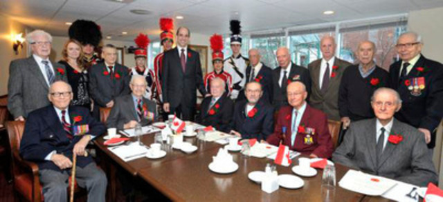 The Honourable Steven Blaney, Minister of Veterans Affairs, joined Veterans at Résidence Le Saint-Patrick in Québec City for a breakfast in honour of Veterans' Week. (CNW Group/Veterans Affairs Canada)