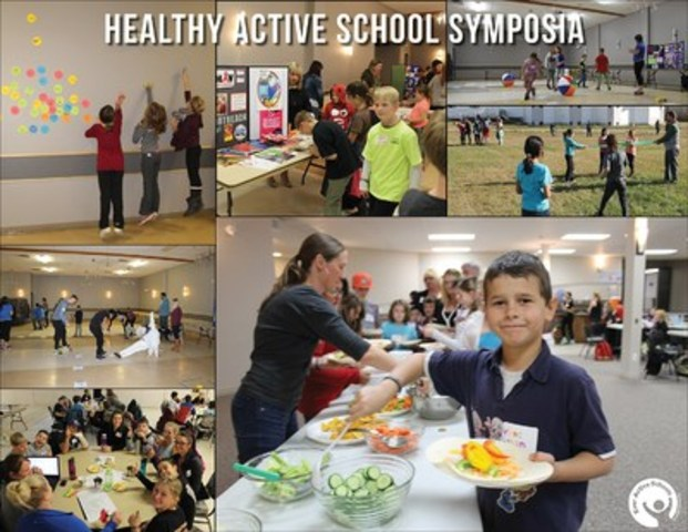 Healthy Active School Symposia in Alberta. Supporting healthy school communities and student leadership! (CNW Group/Ever Active Schools)
