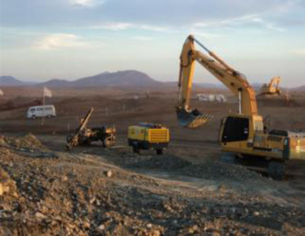 Figure 2: Photo of Cutting & Filling Activity at Plateau 1 (CNW Group/Largo Resources Ltd.)