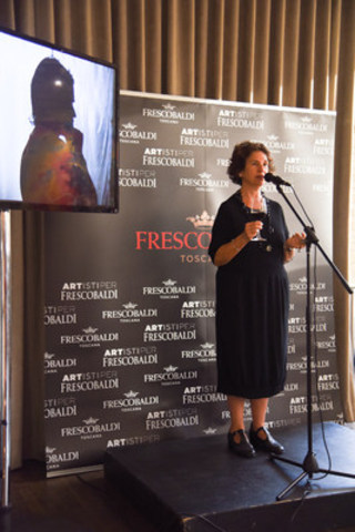 Last week, Tiziana Frescobaldi, 30th generation family member and Artistic Director of Artisti per Frescobaldi, made an appearance at The Spoke Club in Toronto to introduce the wine dynasty's limited edition Montesodi 2011 Vendemmia Dedicata, available via private order through Philippe Dandurand Wines at $800. (CNW Group/Frescobaldi)
