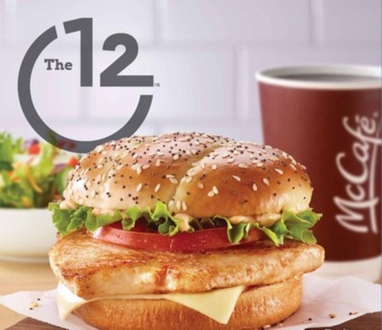 """McDonald's® Canada launched a new chicken sandwich """"The 12"""" to satisfy hungry guests for their busy afternoon ahead. (CNW Group/McDonald's Canada)"""