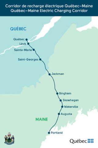 Corridor de recharge électrique Québec-Maine (Groupe CNW/Cabinet du premier ministre)