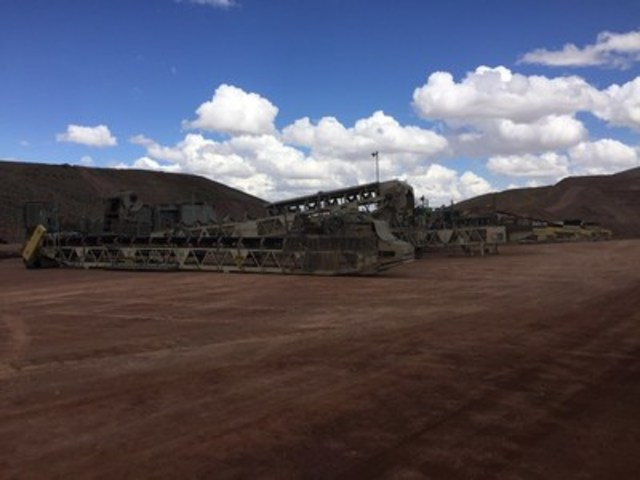 Crusher at Florida Canyon lay-down yard (CNW Group/Rye Patch Gold)