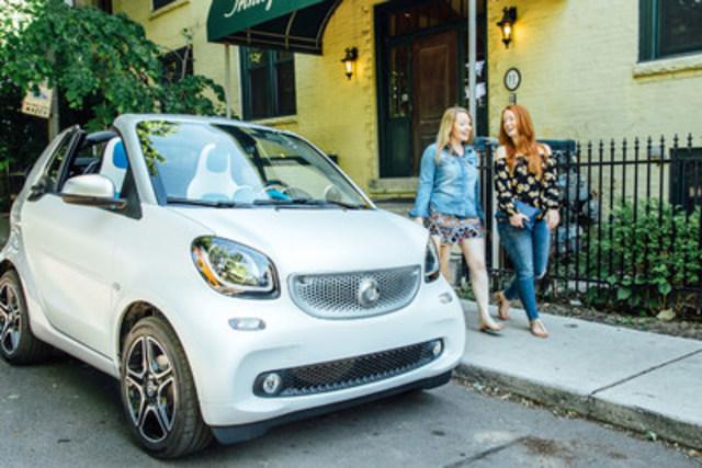 Pour la quatrième année consécutive, smart Canada a le plaisir de se joindre aux célébrations aux côtés de Pride Toronto (Fierté Toronto), en tant que son partenaire automobile officiel. (Groupe CNW/Mercedes-Benz Canada Inc.)