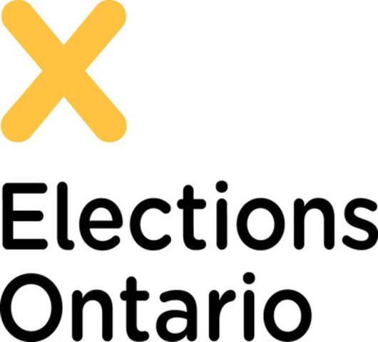 DÉBUT DE LA 41E ÉLECTION GÉNÉRALE PROVINCIALE DE L'ONTARIO (Groupe CNW/Elections Ontario)