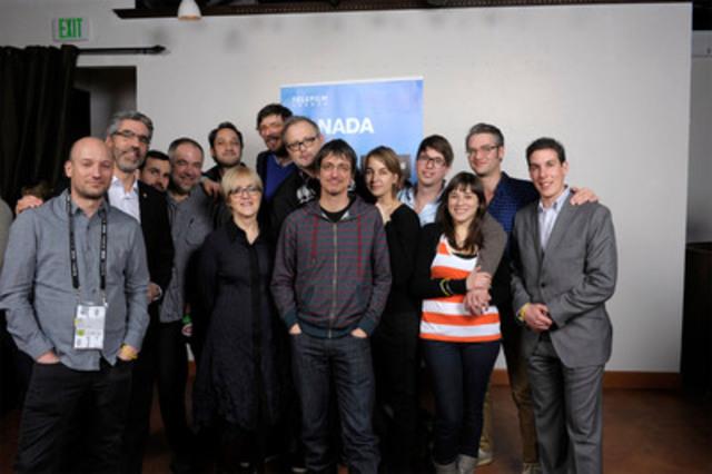 Hier, lors d'un événement de Téléfilm Canada, 300 invités ont célébré le talent canadien à Sundance 2012. Carolle Brabant de Téléfilm est à gauche du réalisateur Philippe Falardeau (centre) qui est en lice pour un Oscar dans la catégorie du Meilleur film en langue étrangère. (Groupe CNW/TELEFILM CANADA)