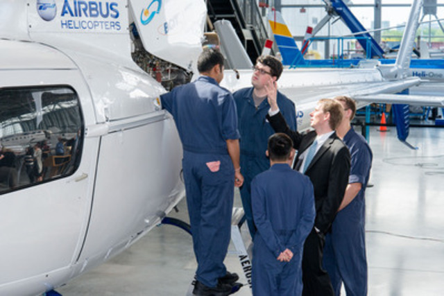 President & CEO Romain Trapp connects with Aircraft Maintenance Engineers at the BCIT Aerospace Campus ...