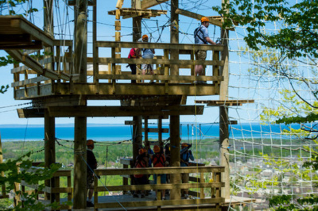 New Timber Challenge High Ropes at Blue Mountain Resort - Credit: 2011 Marc Landry (CNW Group/Blue Mountain Resorts Limited)