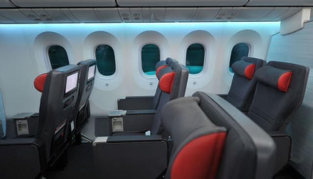 La nouvelle cabine Économique Privilège d'Air Canada, à bord de l'appareil 787 Dreamliner. (Groupe CNW/Air Canada)