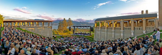 The spectacular Roman-style outdoor Amphitheatre at Mission Hill Family Estate in the Okanagan Valley, British ...